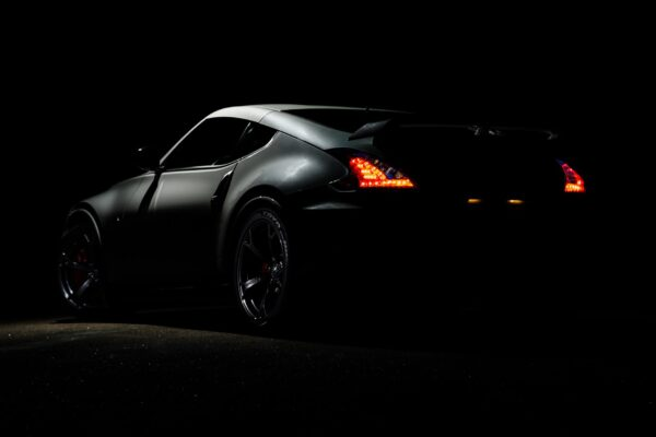 photography of gray sports car